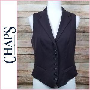 Chaps Brown Button Suit Vest